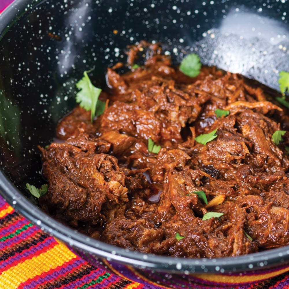 beef barbacoa with cilantro