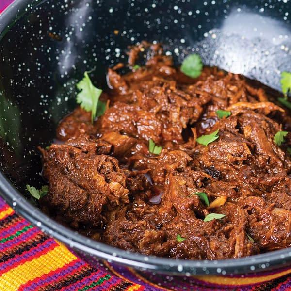 beef barbacoa with cilantro