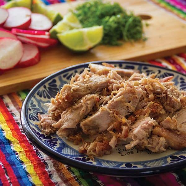 pork carnitas on a plate